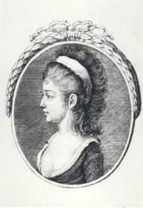 Portret Teresy Czartoryskiej, rycina Carla Christiana Glassbacha