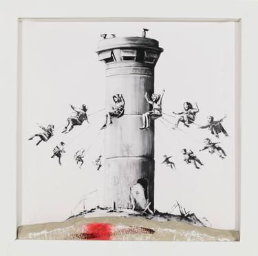 Jedna z prac Banksyego która pojawi się na Targach Sztuki Dostępnej. Foto Brain Damage Gallery