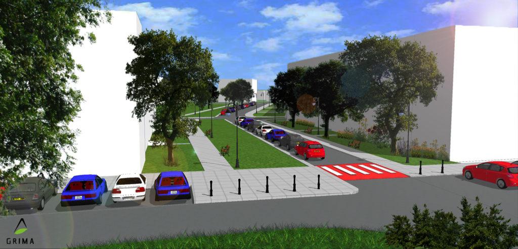 Wizualizacja ulicy Śmiałej na Żoliborzu po remoncie